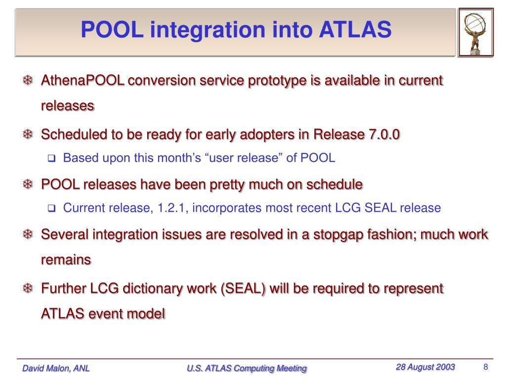 POOL integration into ATLAS