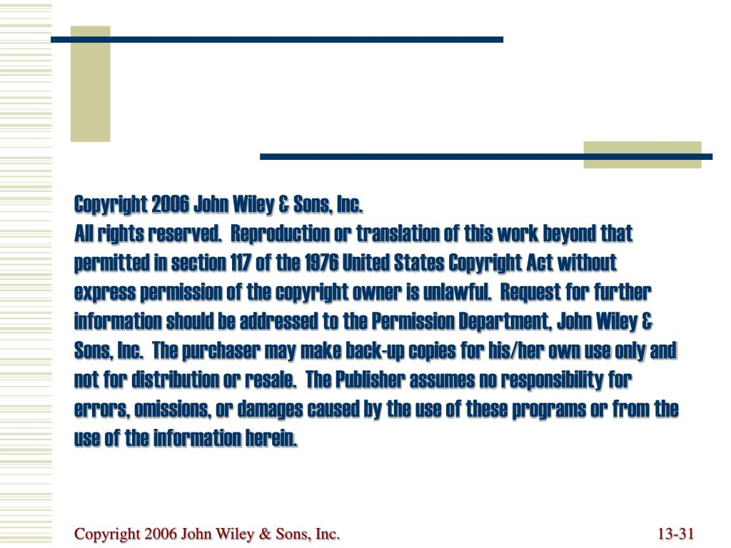 Copyright 2006 John Wiley & Sons, Inc.