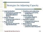 strategies for adjusting capacity
