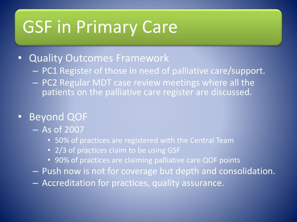 Quality Outcomes Framework