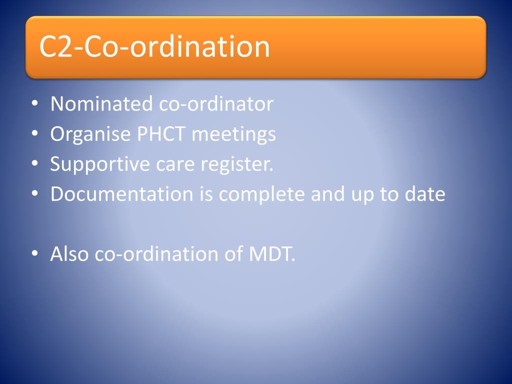 Nominated co-ordinator