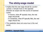 the sticky wage model6