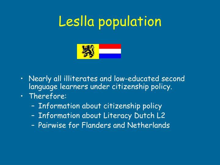 Leslla population