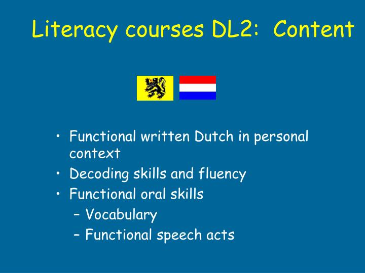 Functional written Dutch in personal context