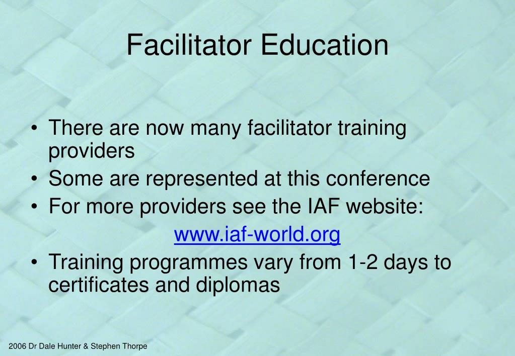 Facilitator Education
