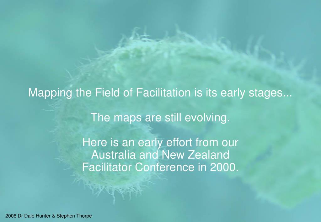 Mapping the Field of Facilitation is its early stages...