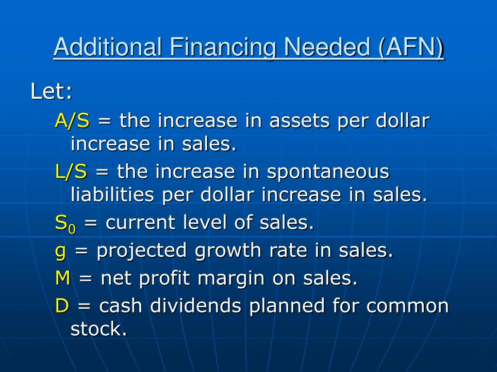 Additional Financing Needed (AFN)