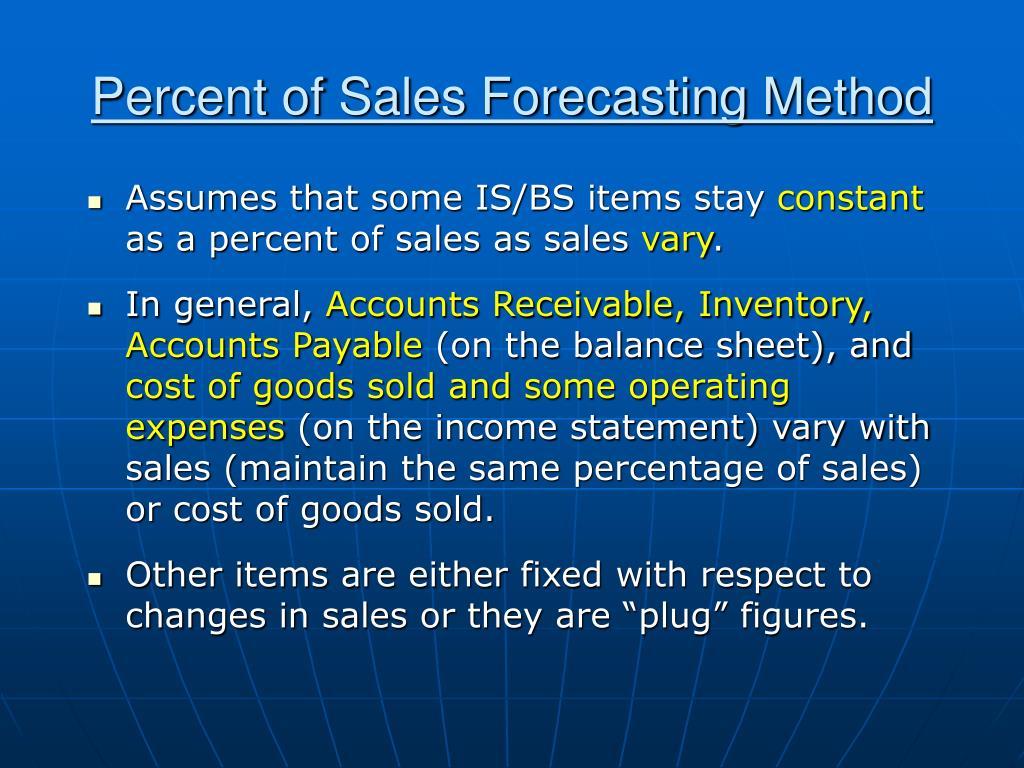 Percent of Sales Forecasting Method