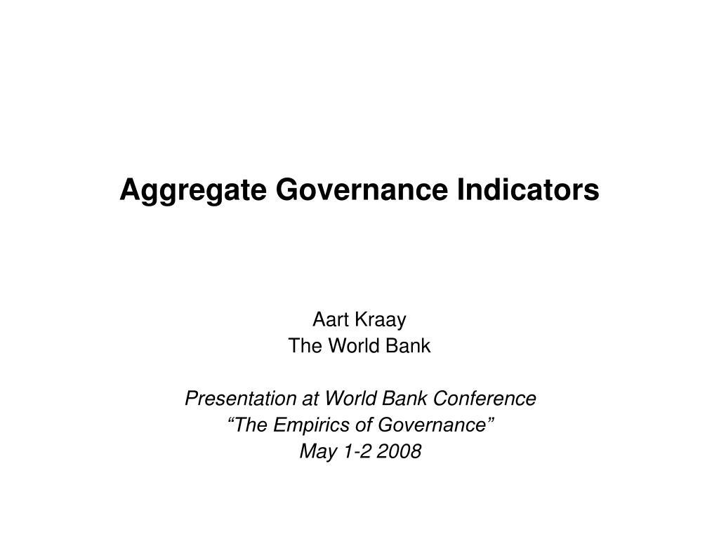 aggregate governance indicators