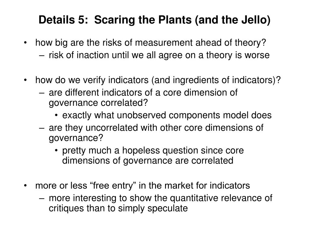 Details 5:  Scaring the Plants (and the Jello)