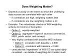 does weighting matter