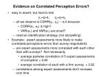 evidence on correlated perception errors