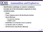 ammunition and explosives64