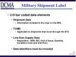 military shipment label31
