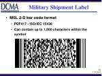 military shipment label32