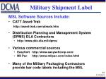 military shipment label34