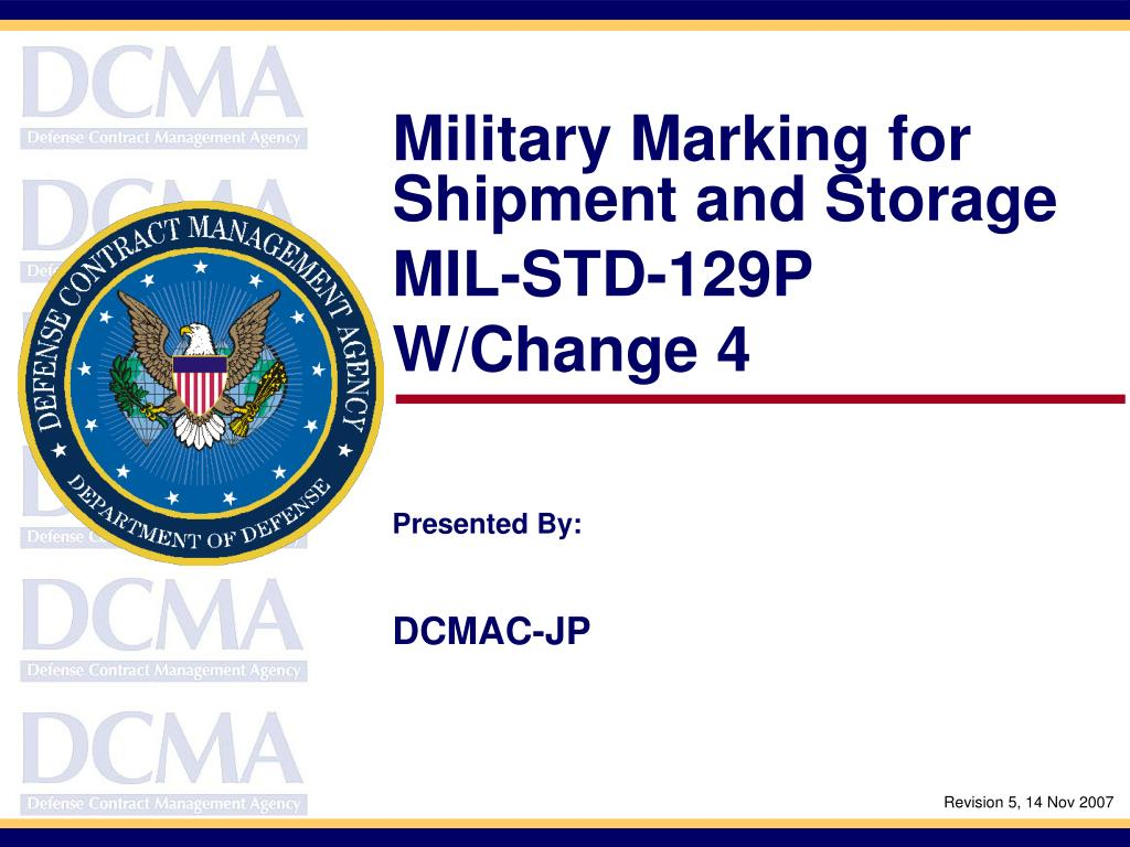 Military Marking for Shipment and Storage