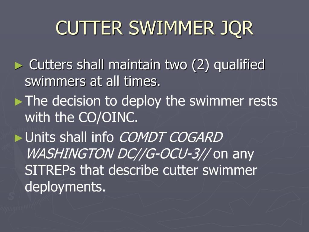 CUTTER SWIMMER JQR
