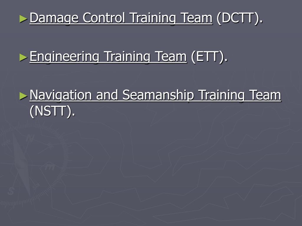 Damage Control Training Team