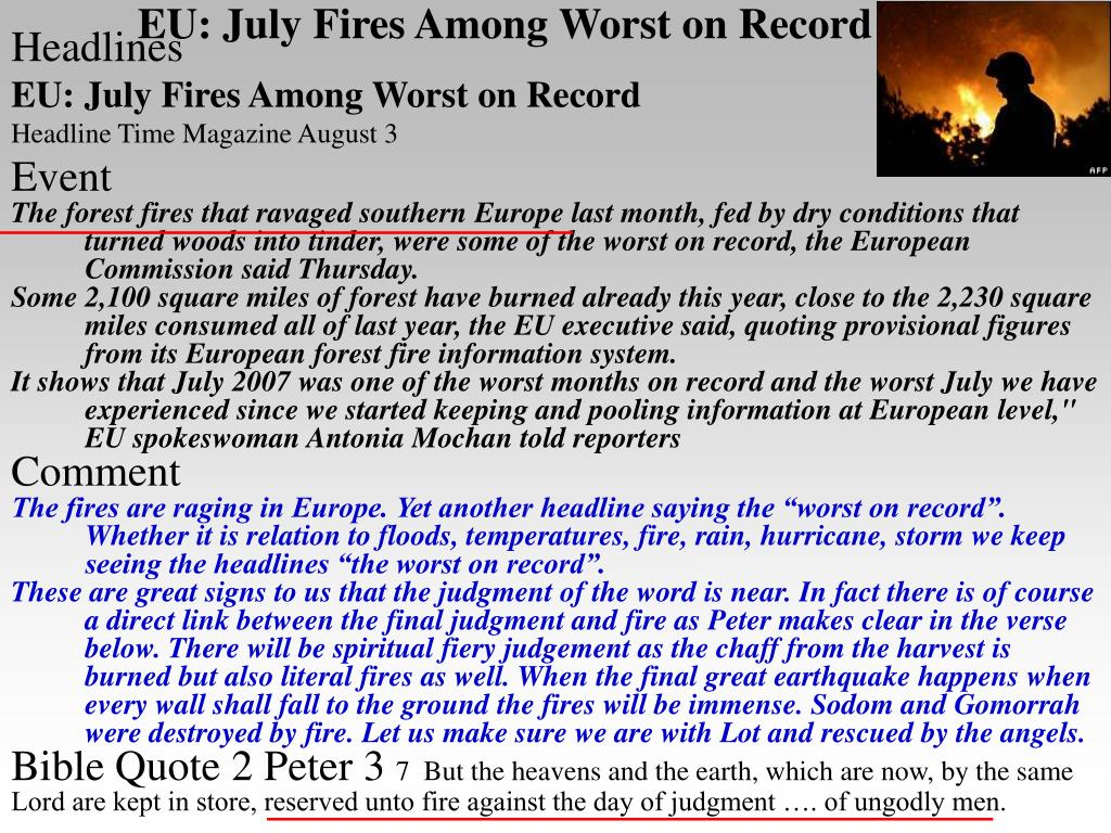 EU: July Fires Among Worst on Record