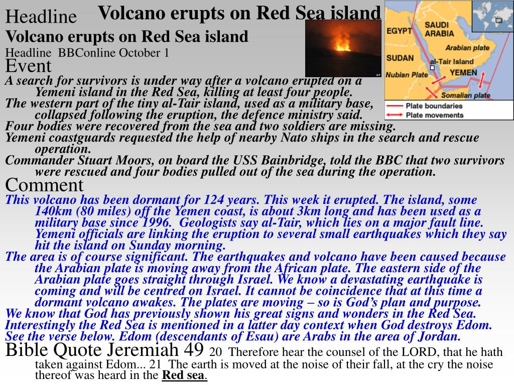 Volcano erupts on Red Sea island