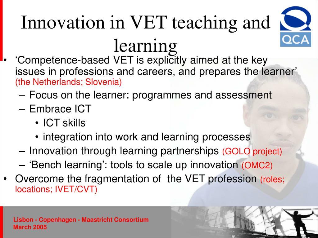Innovation in VET teaching and learning