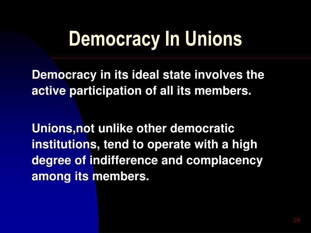 Democracy In Unions