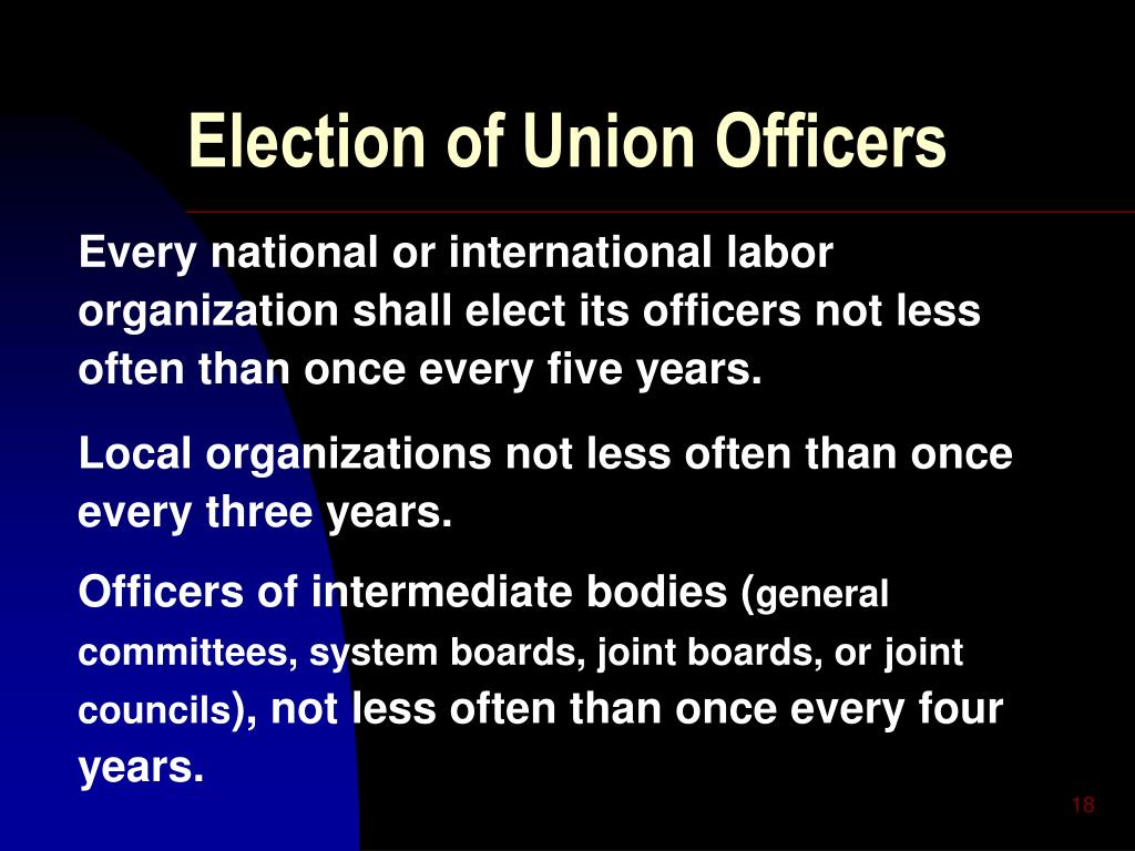 Election of Union Officers