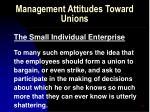 management attitudes toward unions