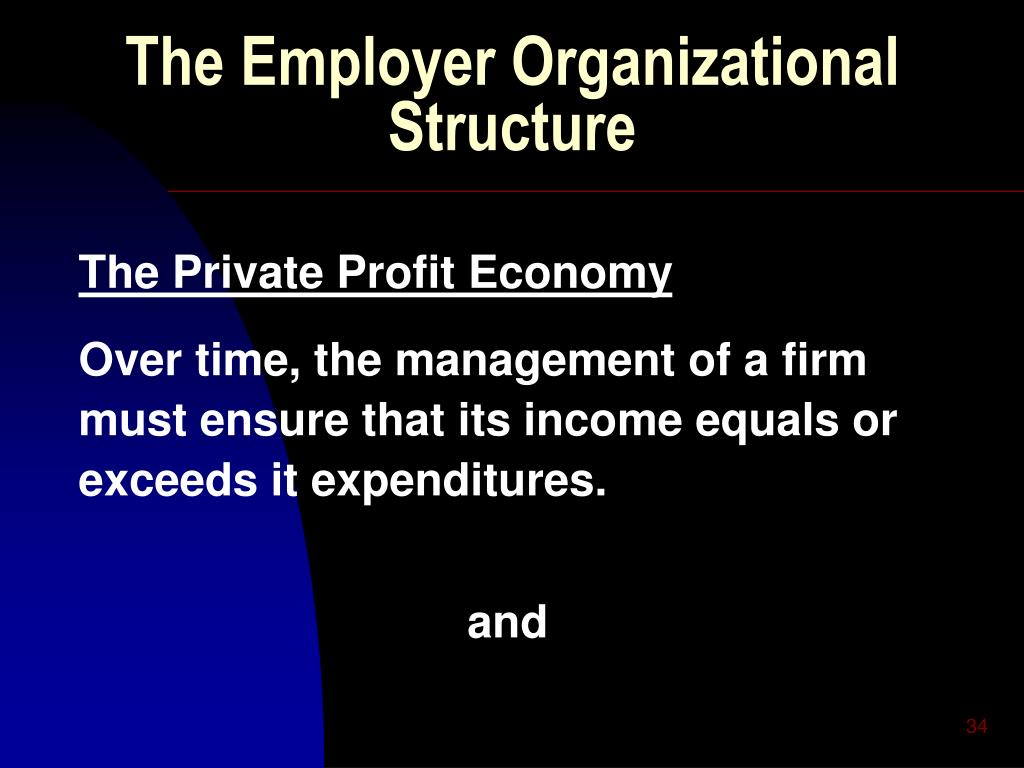 The Employer Organizational Structure