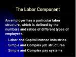 the labor component