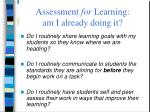 assessment for learning am i already doing it59