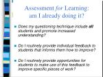 assessment for learning am i already doing it65