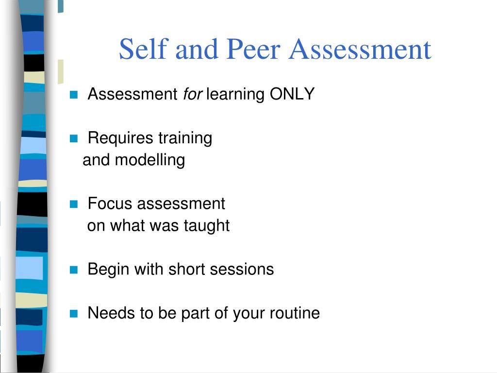 Self and Peer Assessment