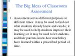 the big ideas of classroom assessment