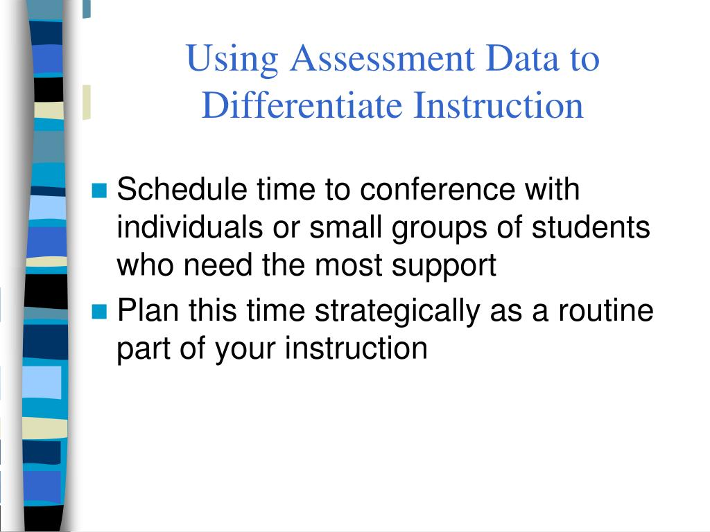 Using Assessment Data to Differentiate Instruction