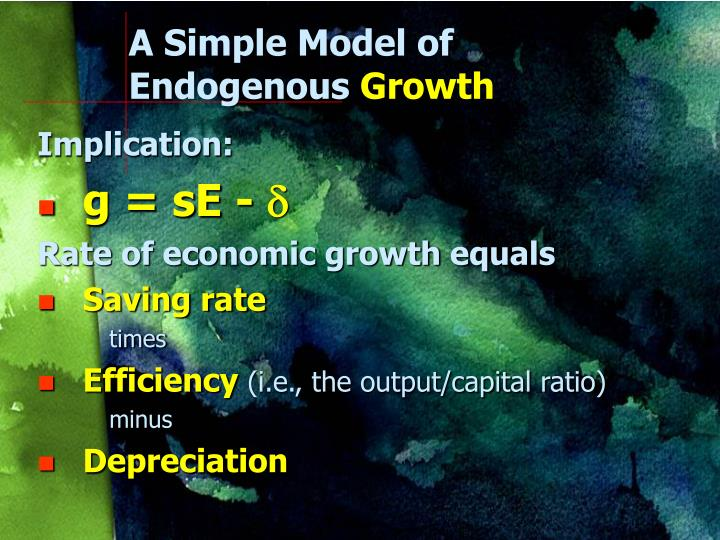 A Simple Model of Endogenous