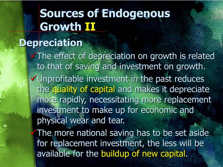 Sources of Endogenous Growth