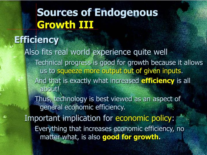 Sources of Endogenous