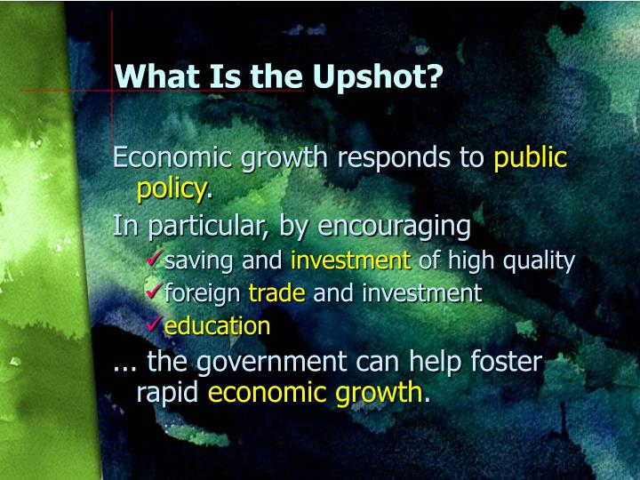 What Is the Upshot?