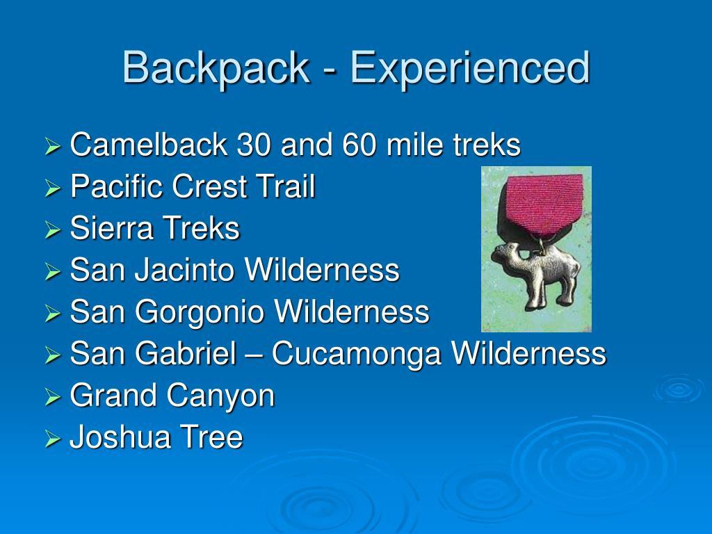 Backpack - Experienced