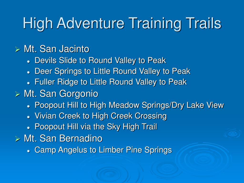 High Adventure Training Trails