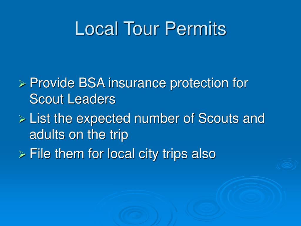 Local Tour Permits