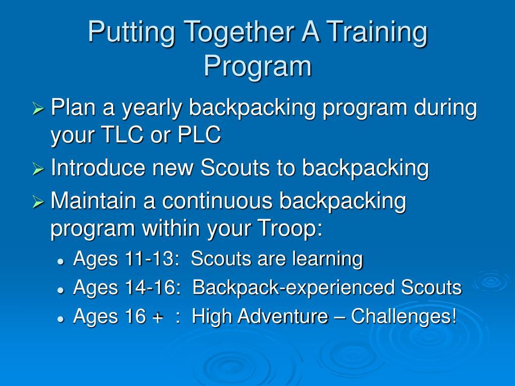 Putting Together A Training Program