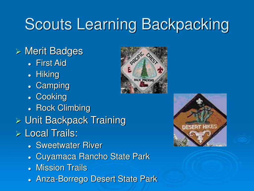 Scouts Learning Backpacking