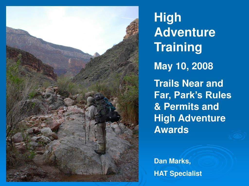 High Adventure Training