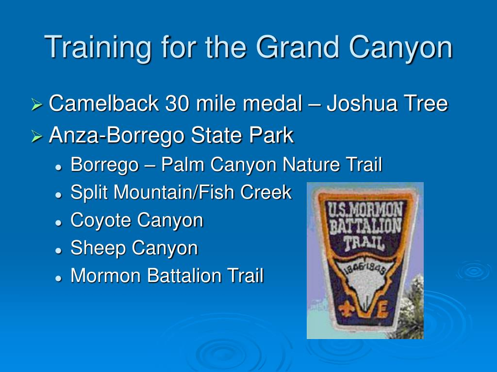 Training for the Grand Canyon