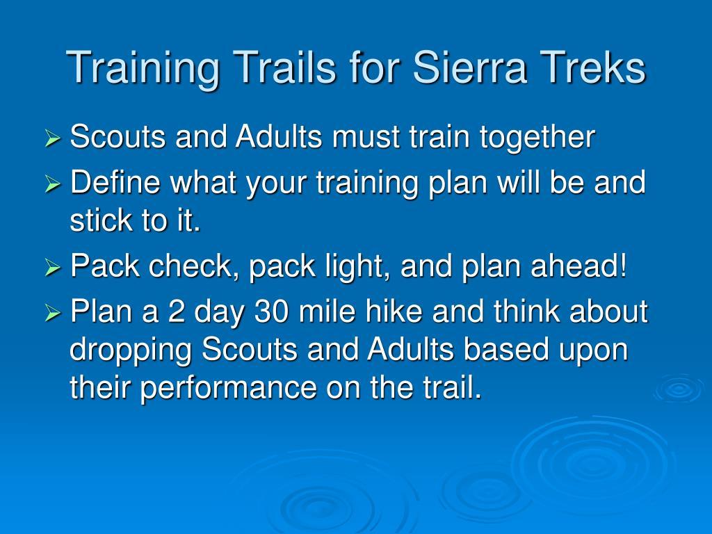 Training Trails for Sierra Treks