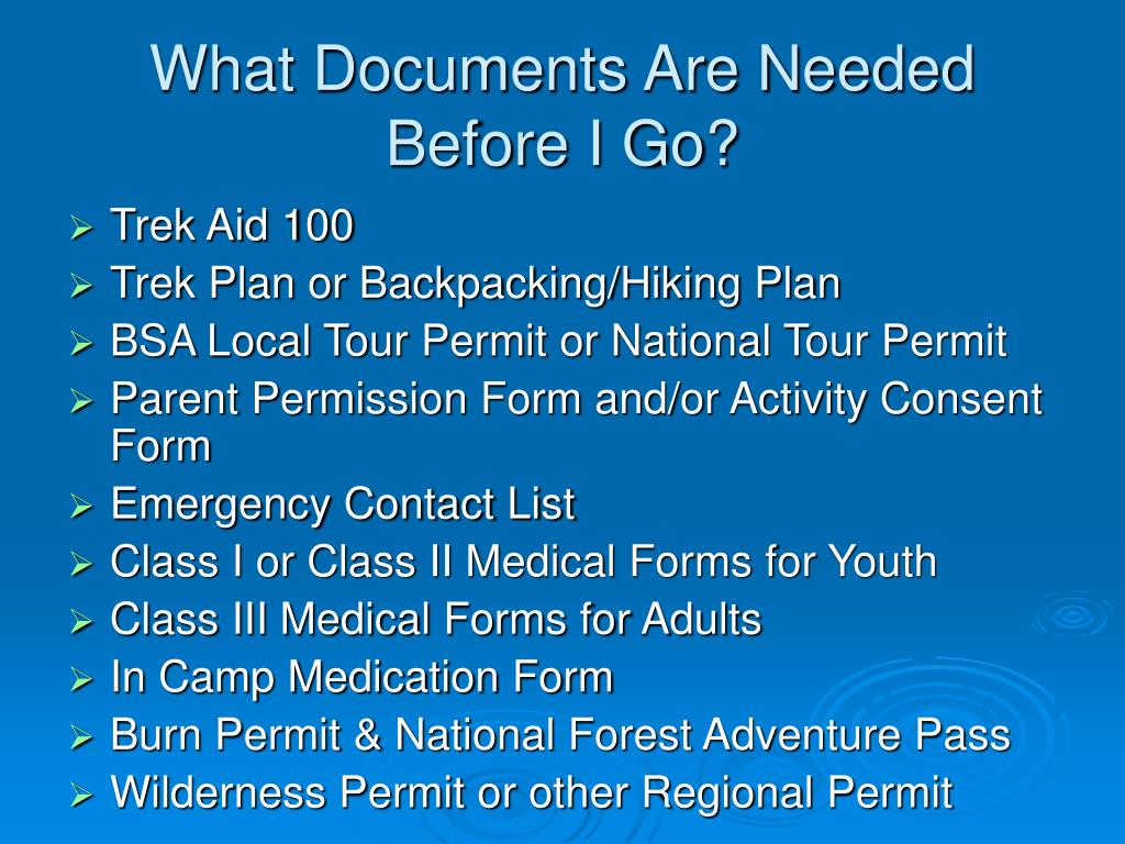 What Documents Are Needed Before I Go?