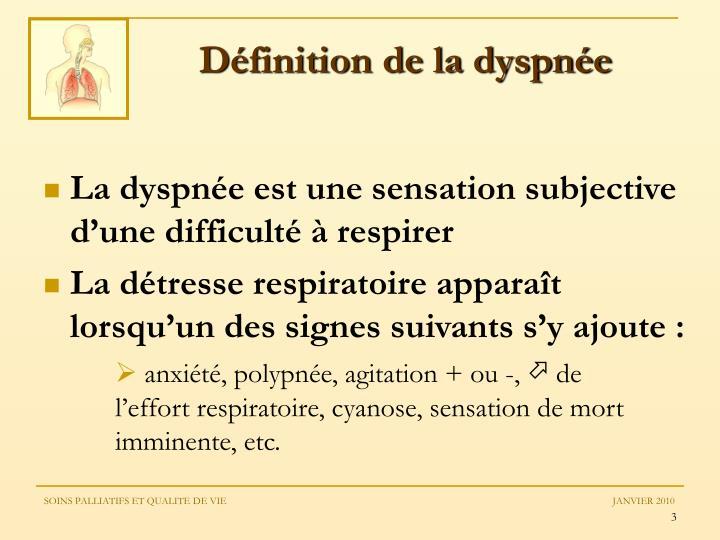 Définition de la dyspnée
